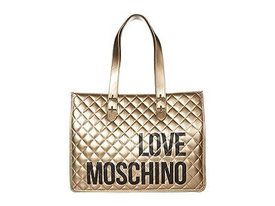 LOVE Moschino Love Shopping Bag (Platinum) Handbags
