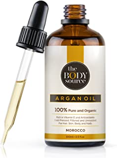 The Body Source - Puro Aceite de Argán 100% Orgánico, Rico