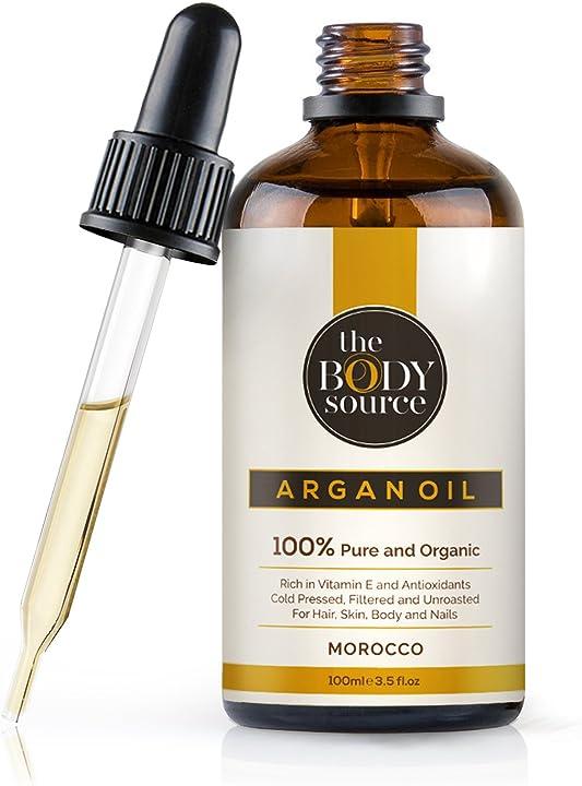 Olio di argan puro al 100% - ricco di vitamina e e antiossidanti - adatto per capelli, pelle, corpo e unghie. AO-01