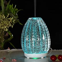 Household Appliances 100ml Creative Vase Shape Aromatherapy Machine 3D Glass Humidifier with Colorful LED Lamp Household A...