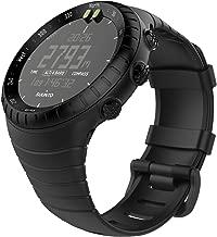 """MoKo Suunto Core Watch Cinturino, Braccialetto di Ricambio in TPU Morbido con Gancio Metallico con Connettore Biella per Suunto Core Smart Watch, per Polso 5.51""""-9.06"""" (140mm-230mm), Nero"""