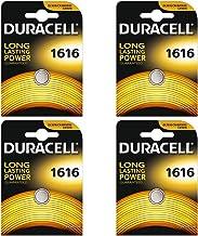Juego de 4 pilas Duracell CR1616 de botón, litio, 3V, incluye embalaje