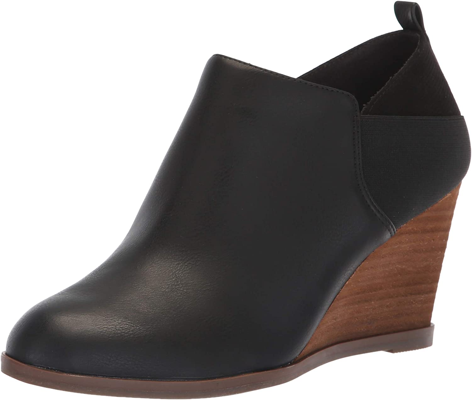 Dr. Scholl's shoes Women's Parler Ankle Boot, Black Smooth, 7 M US