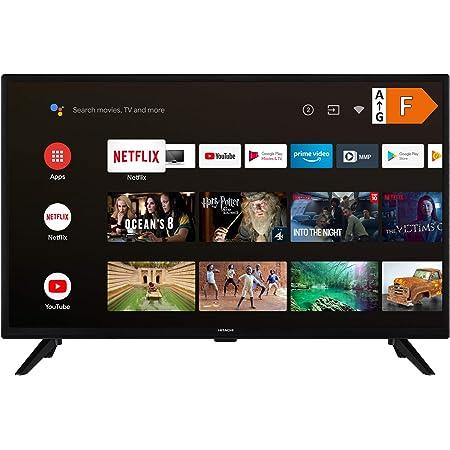 Hitachi Ha32e2250 32 Zoll Fernseher Android Smart Tv Play Store Google Assistant Hd Ready Triple Tuner Pvr Heimkino Tv Video