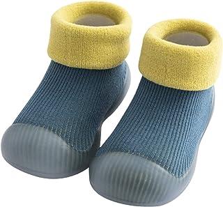 CELANDA Baby Boys Girls Sock Shoes Toddler Anti-Slip Slipper Socks Warm First-Walking Shoes Rubber Sole