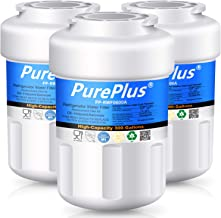 PUREPLUS MWF Refrigerator Water Filter, Replacement for GE SmartWater, HDX FMG-1, GWF, WFC1201, MWFP, MWFA, PC75009, RWF1060, 197D6321P006, GSS23WSTASS, GSS25GSHBCSS, GFSS6KKYESS, GSE25GSHECSS, 3 Pack