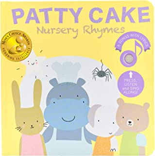 Cali's Books Patty Cake Nursery Rhymes Sound Books. Interactive Learning Toys for Babies and Toddlers.Great Educational Toy for 1 year old Girl and Boy. Book for Toddlers 1-3 and 2-4 years old