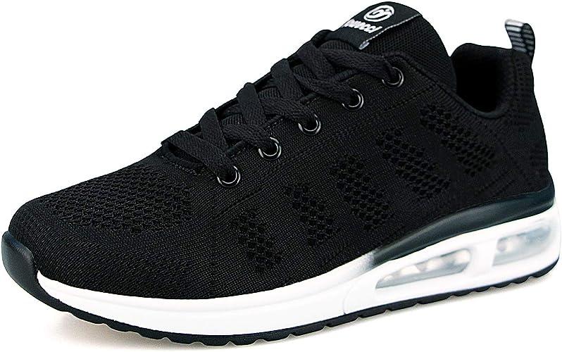 YUHUAWYH Womens Fashion Tennis Walking Shoes Jogging Running Sneakers Sport Air Fitness Gym