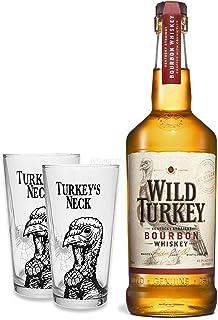 Wild Turkey 81 Kentucky Straight Bourbon Whiskey 0,7l 700ml 40,5% Vol  2x Gläser 2/4cl geeicht -Enthält Sulfite