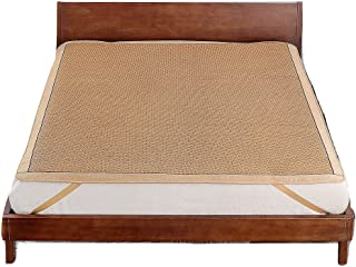 Qbedding Rattan Cooling Summer Sleeping Pad Mattress Topper (Twin, No Pillow Shams, Ancient)