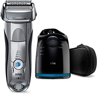 Braun Series 7 7899cc Wet&Dry Electric Shaver with Clean&Charge System, premium silver