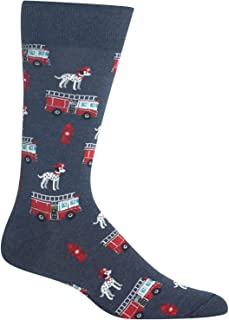 Hot Sox Fireman Crew Socks, 1 Pair, Denim Heather, Men's 6-12.5