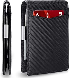 Mens Slim Wallet with Money Clip AUSTIN RFID Blocking Bifold Credit Card Holder for Men with Gift Box