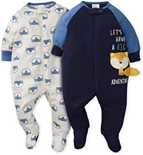GERBER Baby Boys 2-Pack Sleep 'N Play, Awesome Fox, 0-3...