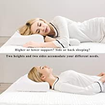 Yuyutsu Memory Foam Cervical Contour Medical Pillow for Sleeping Orthopedic Pillows for Neck Back Pain (White)