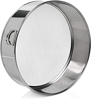 "6"" Small Tamis Stainless Steel Mini Fine Mesh Flour Sieve Round Flour Sieve Strainer with 40 Mesh (6 Inch, 18/8 Steel)"