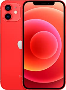 Apple iPhone 12, 64GB, (Product)Red - Fully Unlocked (Renewed)