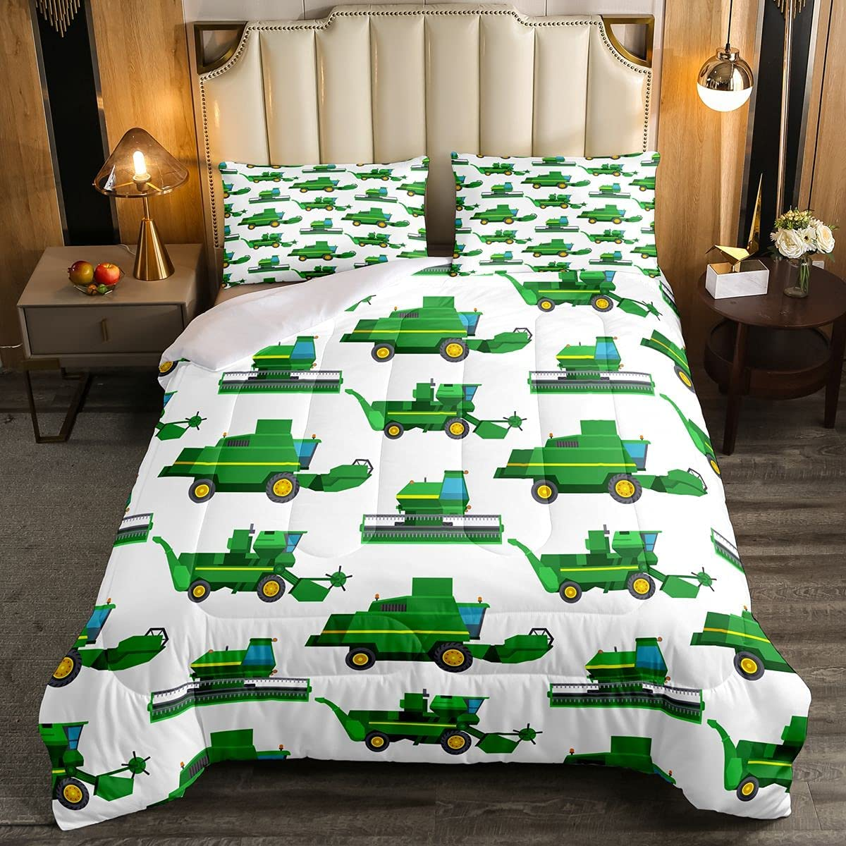 Feelyou Cheap SALE Start Limited time trial price Construction Site Comforter Set Twin Tractor Size Truck