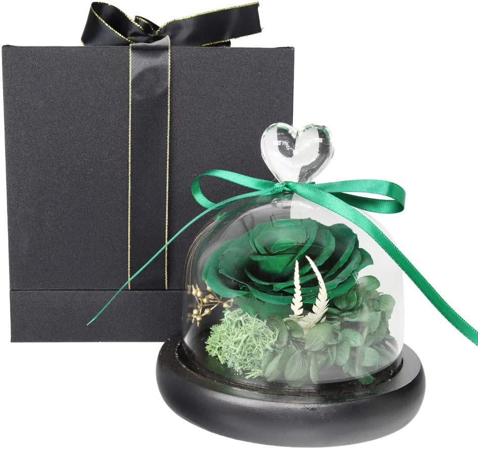 Max 53% OFF Preserved Fresh Flower in a Glass Real with Roses Handmade B We OFFer at cheap prices