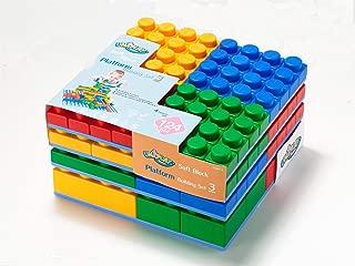 UNiPLAY Soft Block Platform Building Set 3- Non-Toxic & BPA-Free - 124-Piece Multi-Color Set