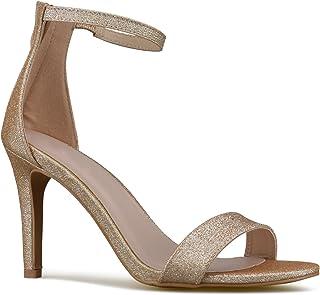 Premier Standard - Women's Strappy Kitten High Heel - Formal, Wedding, Party Simple Classic Pump