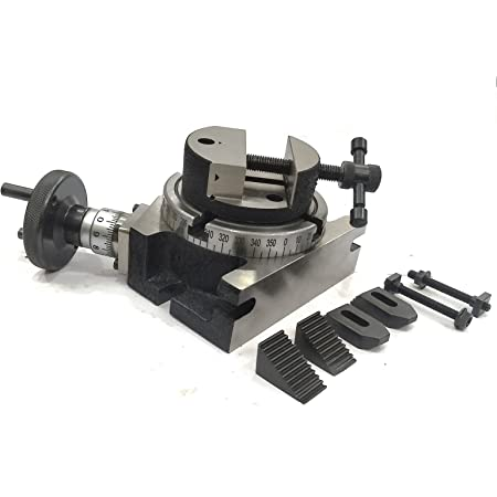 "4/""ROTARY TABLE /& M6 CLAMP KIT /& TAILSTOCK WITH 100 MM ROUND VICE"