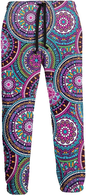 Active Sweats Jogger Pants Purple Boho Mandala Running Joggers Casual Sweatpants for Men Women