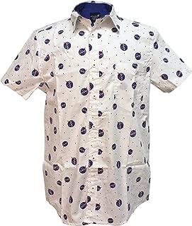 NASA Logo Men's White Woven Button Up Shirt