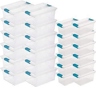 Sterilite Deep Clip Storage Box Container (12 Pack) + Medium Clip Box (12 Pack)