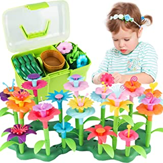 Girls Toys Age 3-6 Year Old Toddler Toys for Girls Gifts Flower Garden Building Toy Educational Activity Stem Toys(130 PCS)