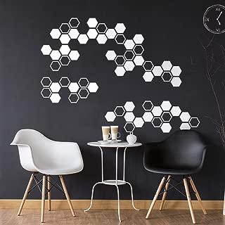Vinyl Wall Art Decal - Honeycomb Hexagon Pattern - 22.5