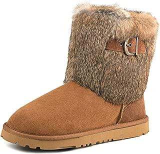AUSLAND Women's Mid-Calf Fur Sheepskin Boot Winter Shoe 913030