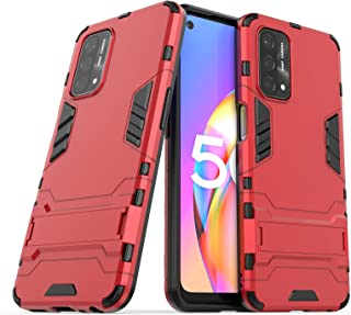 Wuzixi Case for Oppo A93 5G. Sturdy and Durable, Built-in Kickstand, Anti-Scratch, Shock Absorption, Durable, Cover for Op...