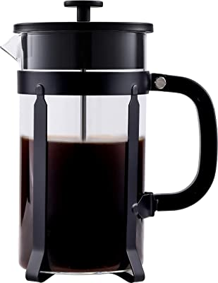 French Press Coffee Maker Glass 34 Oz,French Press Coffee Maker 1000ml,French Press Black,French Press 34 Oz Glass,French Press Borosilicate Glass 1 Liter,Black French Press Coffee Maker