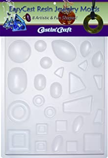 Environmental Technology Castin' Craft EasyCast Resin Jewelry Mold, 8 Artistic Shapes On One Tray