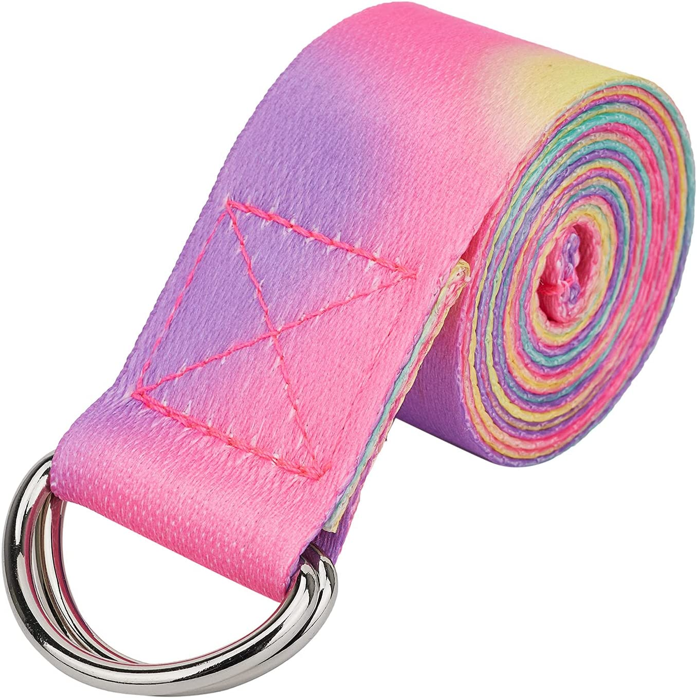 DOAPMLL Yoga service Strap Stretch Bands [Alternative dealer] Extra Safe with 6ft Adjustable