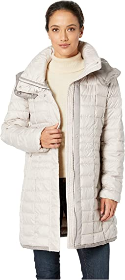 Marble Packable Puffer with Detachable Hood