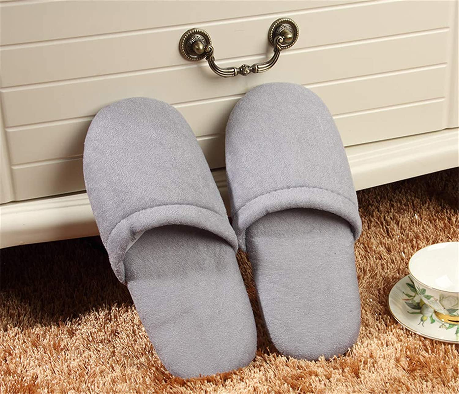 10 Pairs, Non-Slip Spa Guest Slippers Home Hospitality Floor colorful Soft Bread Slippers,007