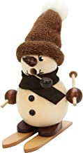 "Alexander Taron Importer 35-695 Christian Ulbricht Incense Burner - Snowman on Ski (Natural) - 4.5"" H x 2.5"" W x 3"" D, Brown"