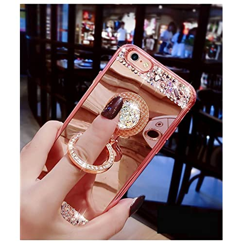 09e2ceb0fbb798 EMAXELERS iPhone 7+ Case iPhone 8+ Case Glitter Bling Diamond Glitter Mirror  Makeup Silicone