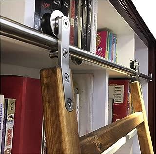 DIYHD SLD-8FT Sliding Hardware Rolling Library Kit(No Ladder), 8ft, Stainless Steel