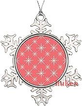 Christmas Geometric Snowflake Seamless Pattern Metal Snowflake Christmas Ornaments for Tree The Home Bedroom Decor for Kid...