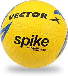 Vector X VB-SPIKE-MOULDED-4 Rubber Volleyball, Size 4 (Multicolour)