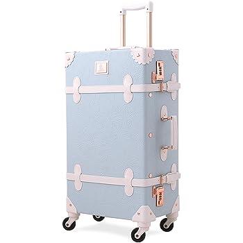 UNITRAVEL Valise R/étro Voyage 55 Centim/ètre 31 litres avec 4 Roues Bleu Serrure TSA