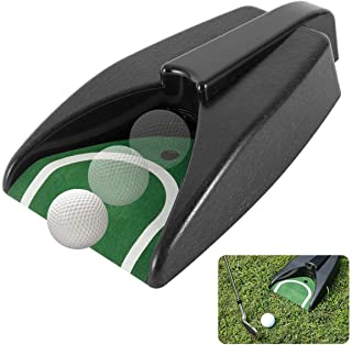 MEW Automatic Golf Putting Cup, Golf Aid Training Ball Return Device with Green Slope Mat, for Indoor Outdoor Yard Office