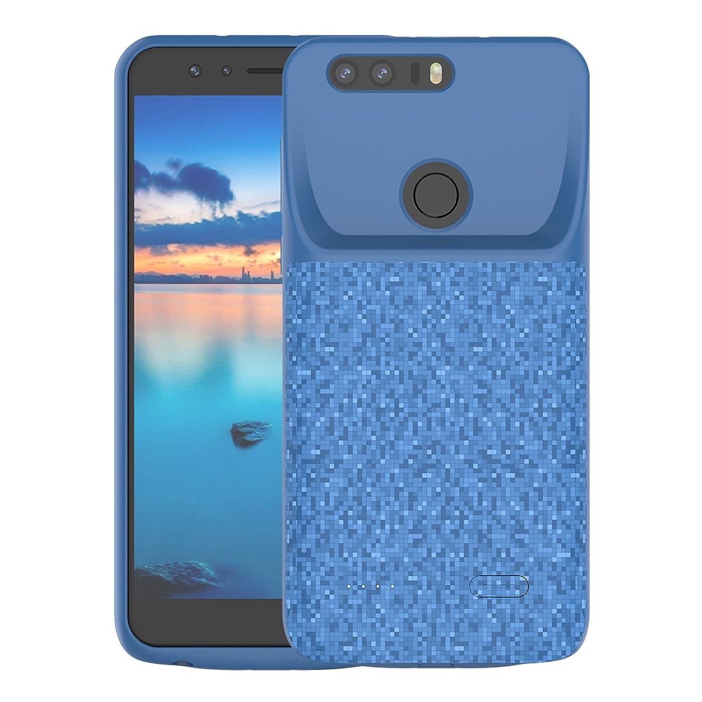 バッグおいしい日記Huawei Honor 8 4700mAh 電池ケース-Phoebe ポータブル 拡張された Huawei Honor 8 4700mAh 充電ケース 保護 電池 (Blue)