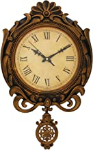 WebelKart Designer Retro Decorative Antique Pendulum Wall Clock (16 in x 12 in- Gold)