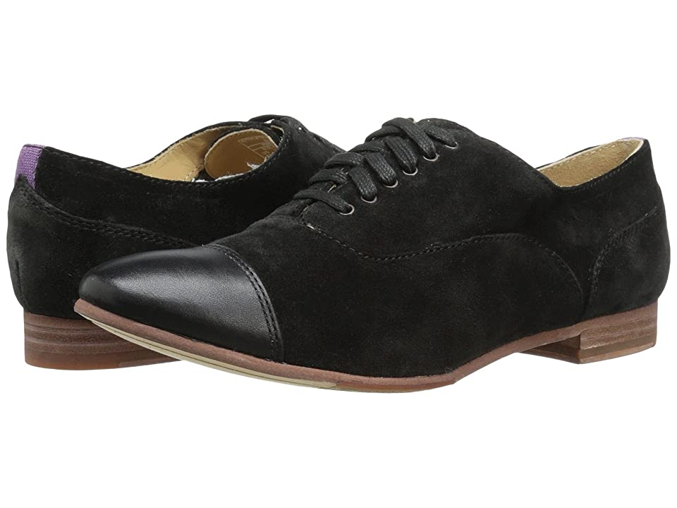 Sebago Hutton Cap Toe (Black Suede) Women