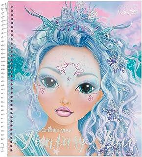 Depesche- Libro para Colorear, Create Your Fantasy Face, Aprox. 24 x 21,8 x 1,8 cm, 40 páginas, 3 Plantillas y 1 Hoja de P...