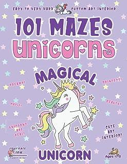 Unicorn Maze Book for Girls 4-8: 101 Puzzle Pages. Custom Art Interior. Cute fun gift! SUPER KIDZ. Magical Purple Stars.